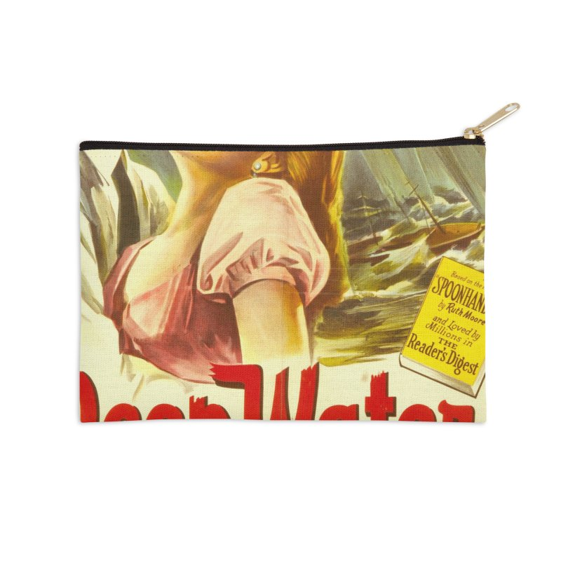 Deep Waters, vintage movie poster Accessories Zip Pouch by ALMA VISUAL's Artist Shop