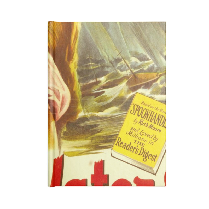 Deep Waters, vintage movie poster Accessories Lined Journal Notebook by ALMA VISUAL's Artist Shop
