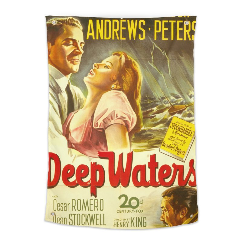 Deep Waters, vintage movie poster Home Tapestry by ALMA VISUAL's Artist Shop