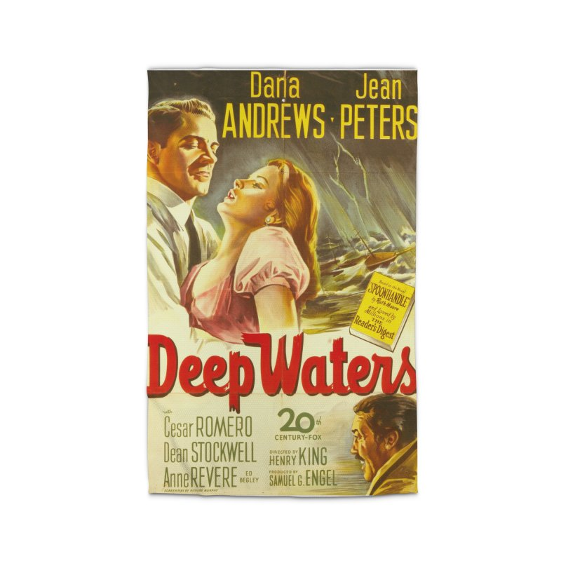 Deep Waters, vintage movie poster Home Rug by ALMA VISUAL's Artist Shop