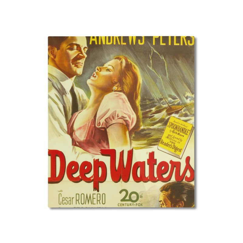 Deep Waters, vintage movie poster Home Mounted Aluminum Print by ALMA VISUAL's Artist Shop