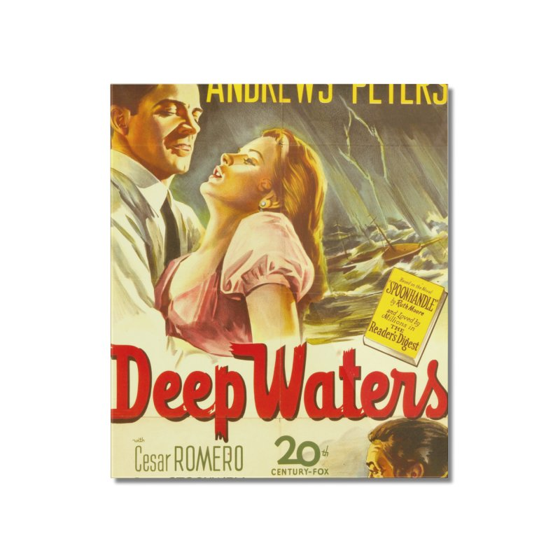 Deep Waters, vintage movie poster Home Mounted Acrylic Print by ALMA VISUAL's Artist Shop