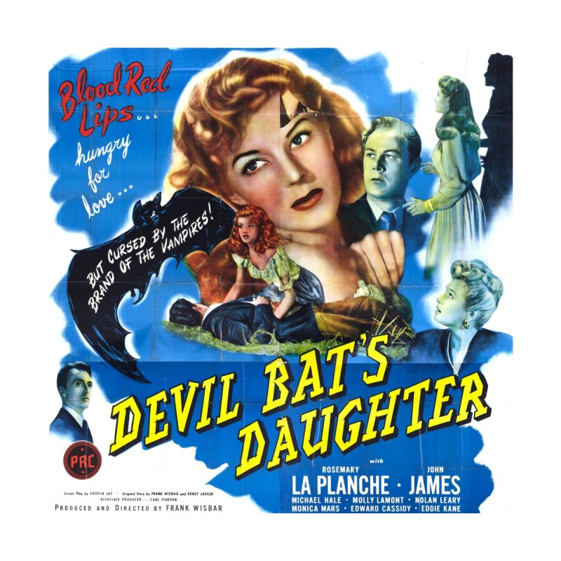 Devil Bat's Daughter, vintage horror movie poster by ALMA VISUAL's Artist Shop