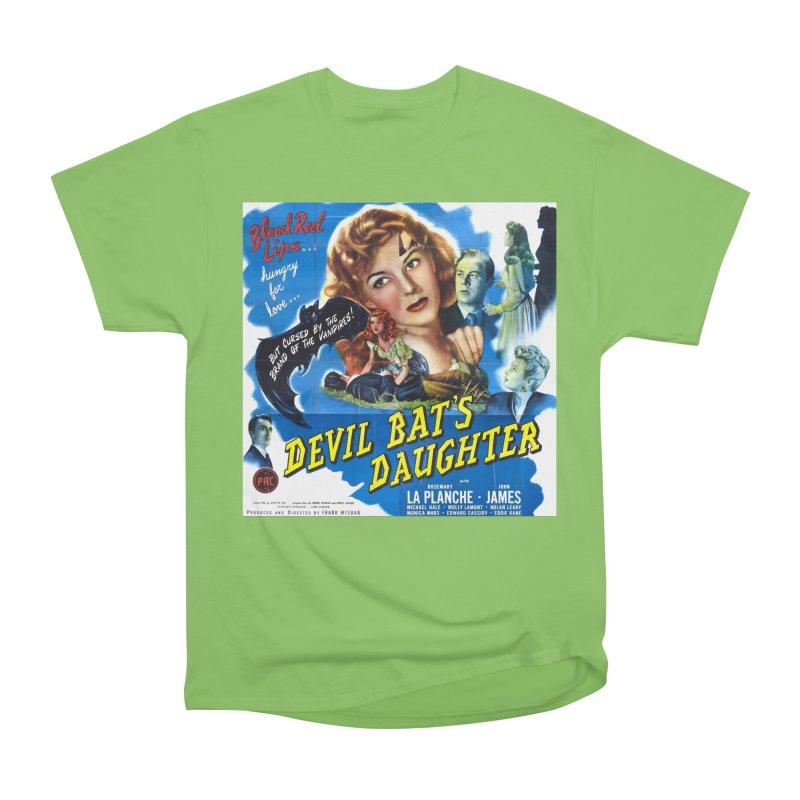Devil Bat's Daughter, vintage horror movie poster Men's Heavyweight T-Shirt by ALMA VISUAL's Artist Shop