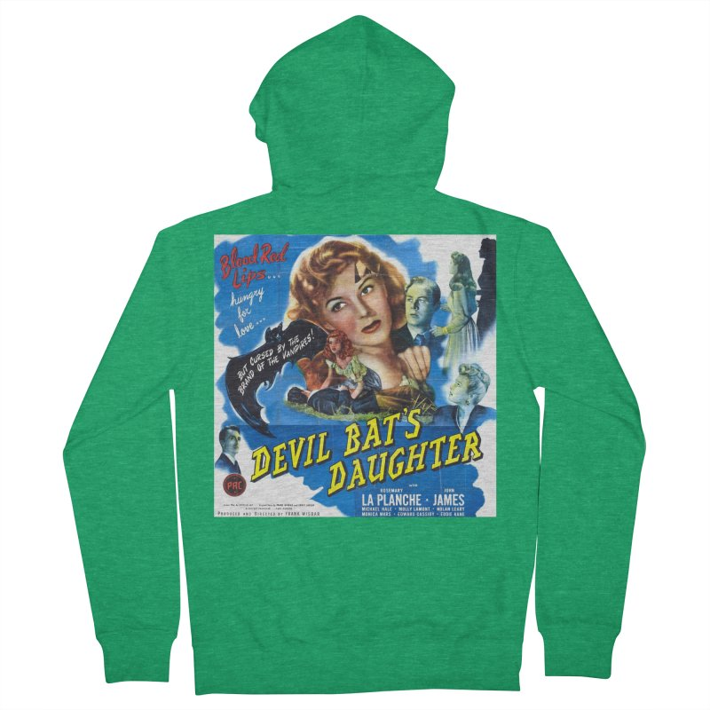 Devil Bat's Daughter, vintage horror movie poster Women's Zip-Up Hoody by ALMA VISUAL's Artist Shop