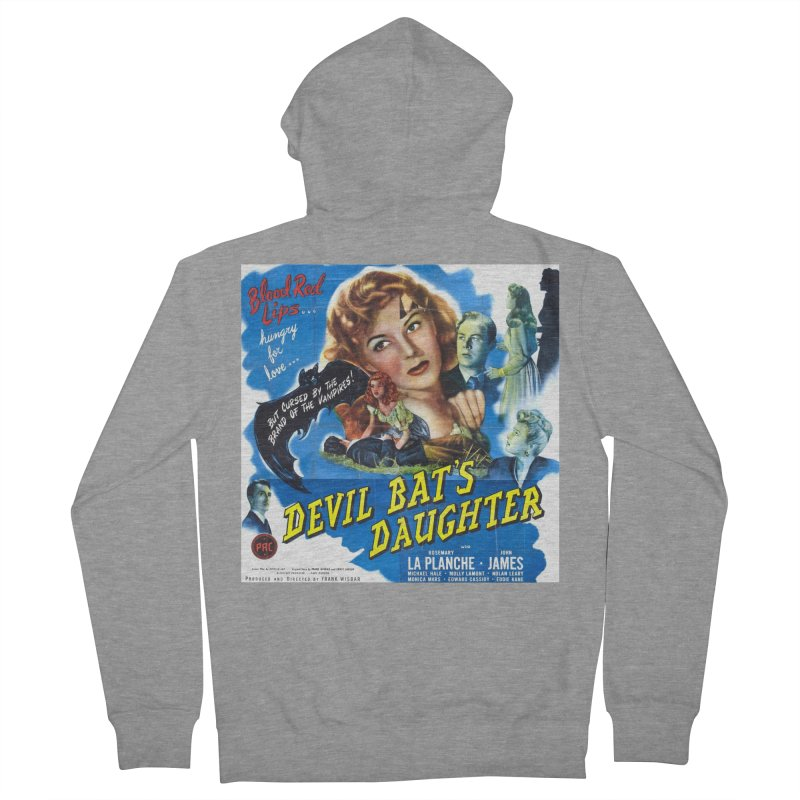 Devil Bat's Daughter, vintage horror movie poster Women's French Terry Zip-Up Hoody by ALMA VISUAL's Artist Shop