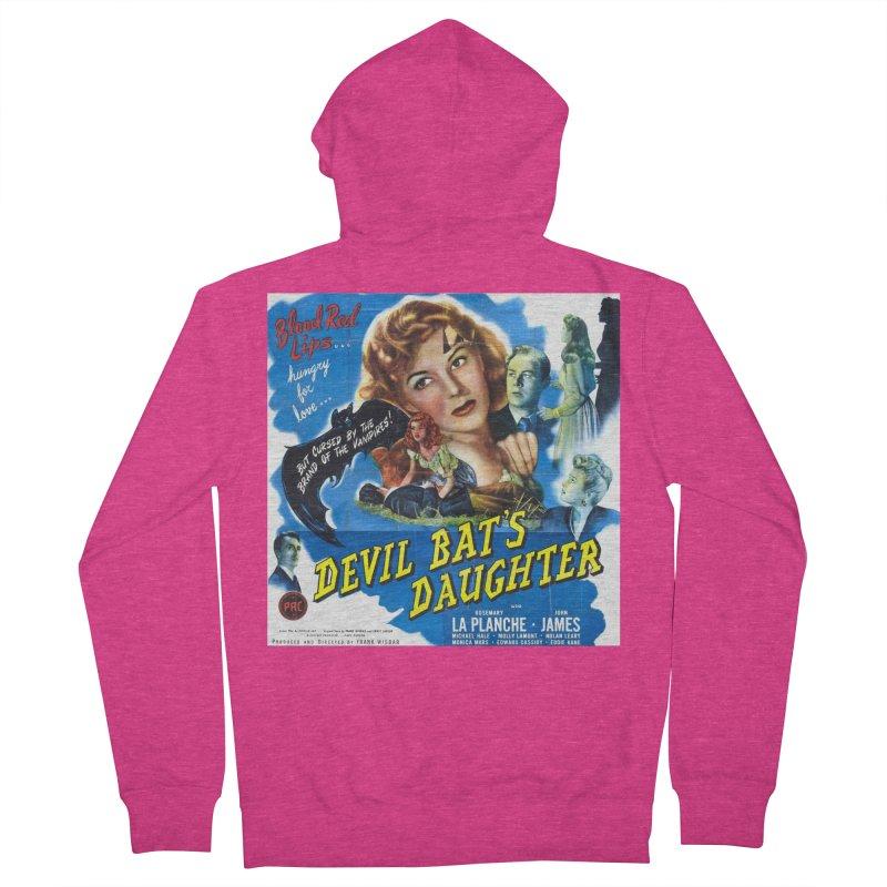 Devil Bat's Daughter, vintage horror movie poster Women's Zip-Up Hoody by ALMA VISUAL's Artist Shop