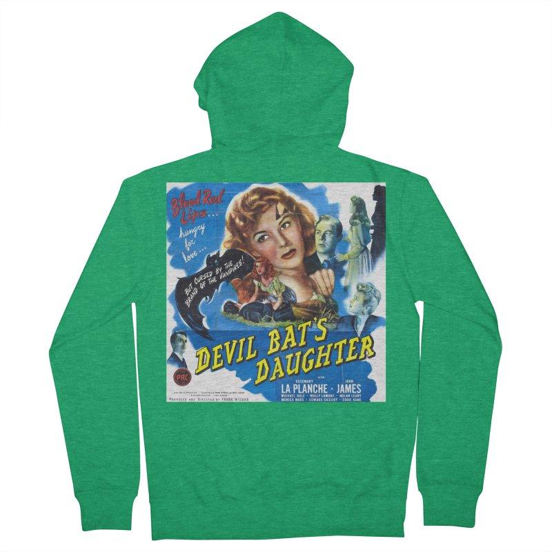 Devil Bat's Daughter, vintage horror movie poster Men's Zip-Up Hoody by ALMA VISUAL's Artist Shop