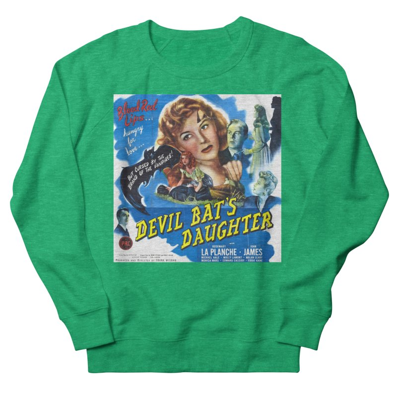 Devil Bat's Daughter, vintage horror movie poster Men's French Terry Sweatshirt by ALMA VISUAL's Artist Shop