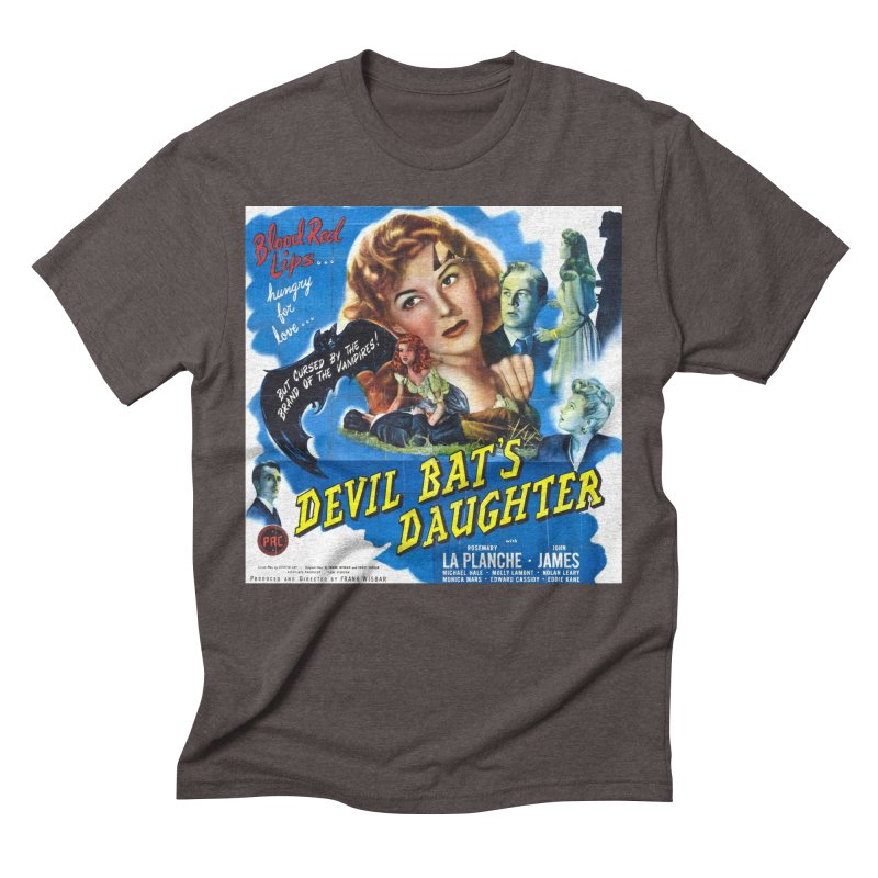 Devil Bat's Daughter, vintage horror movie poster Men's Triblend T-Shirt by ALMA VISUAL's Artist Shop