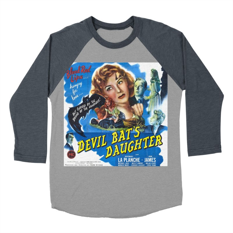Devil Bat's Daughter, vintage horror movie poster Women's Baseball Triblend Longsleeve T-Shirt by ALMA VISUAL's Artist Shop