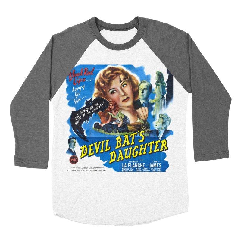 Devil Bat's Daughter, vintage horror movie poster Men's Baseball Triblend T-Shirt by ALMA VISUAL's Artist Shop