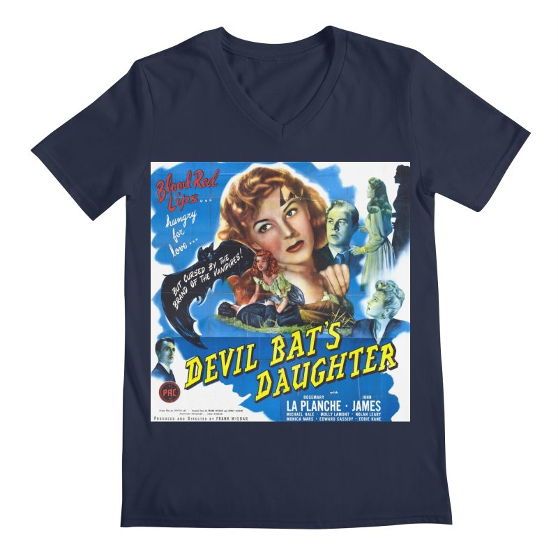 Devil Bat's Daughter, vintage horror movie poster Men's Regular V-Neck by ALMA VISUAL's Artist Shop