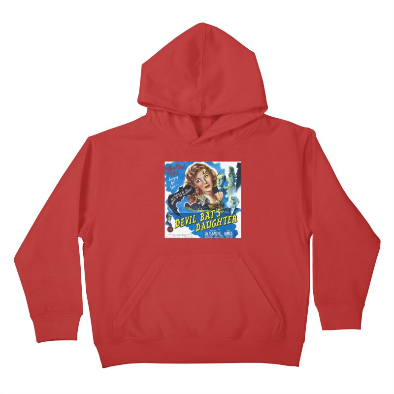 Devil Bat's Daughter, vintage horror movie poster Kids Pullover Hoody by ALMA VISUAL's Artist Shop