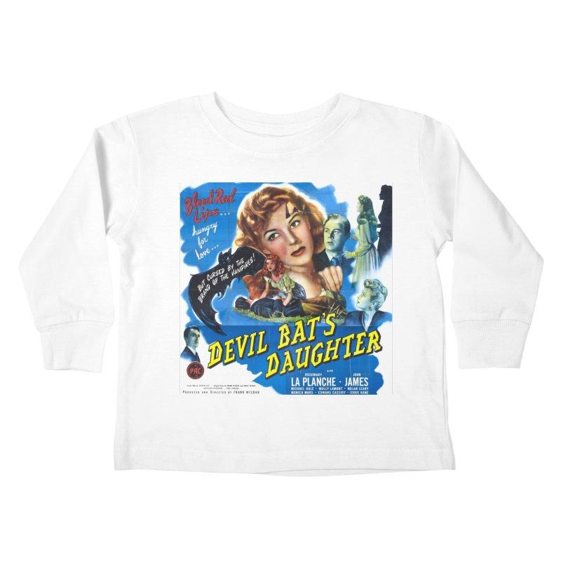 Devil Bat's Daughter, vintage horror movie poster Kids Toddler Longsleeve T-Shirt by ALMA VISUAL's Artist Shop