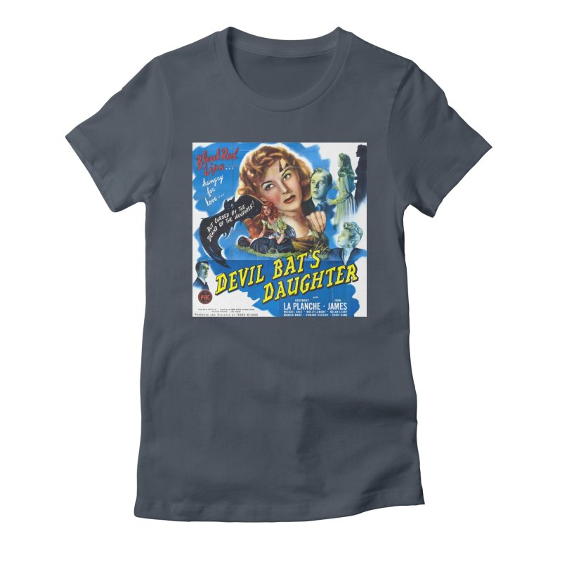Devil Bat's Daughter, vintage horror movie poster Women's Fitted T-Shirt by ALMA VISUAL's Artist Shop