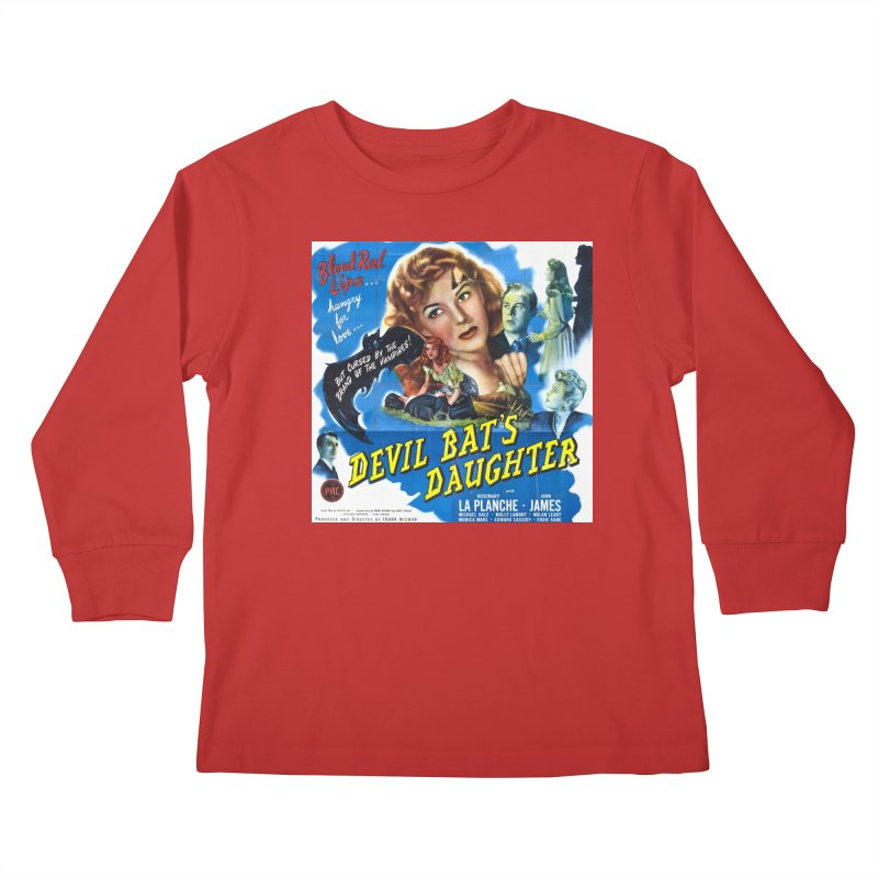 Devil Bat's Daughter, vintage horror movie poster Kids Longsleeve T-Shirt by ALMA VISUAL's Artist Shop