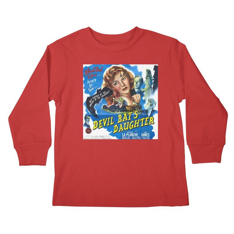Devil Bat's Daughter, vintage horror movie poster Kids Longsleeve T-Shirt by ALMA VISUAL's Artist Shop
