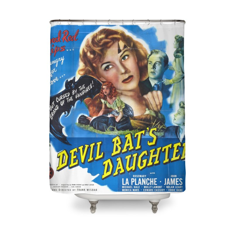 Devil Bat's Daughter, vintage horror movie poster Home Shower Curtain by ALMA VISUAL's Artist Shop