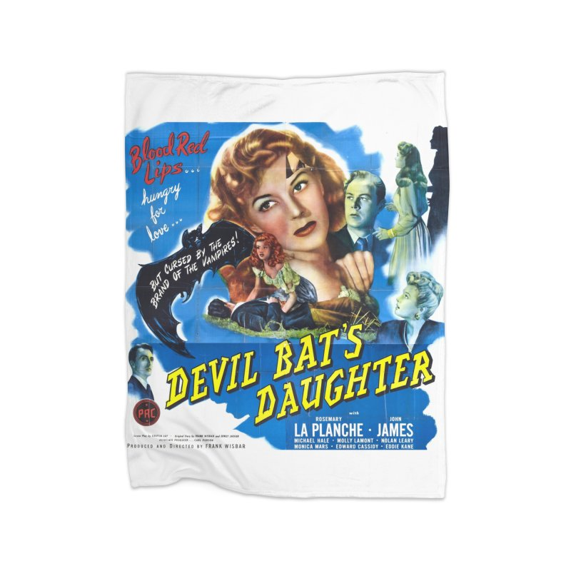 Devil Bat's Daughter, vintage horror movie poster Home Blanket by ALMA VISUAL's Artist Shop