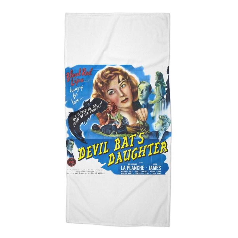 Devil Bat's Daughter, vintage horror movie poster Accessories Beach Towel by ALMA VISUAL's Artist Shop
