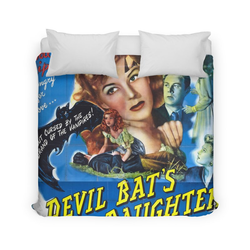 Devil Bat's Daughter, vintage horror movie poster Home Duvet by ALMA VISUAL's Artist Shop