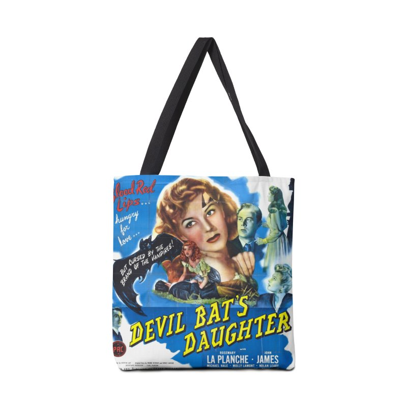 Devil Bat's Daughter, vintage horror movie poster Accessories Bag by ALMA VISUAL's Artist Shop