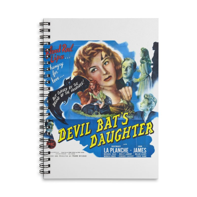 Devil Bat's Daughter, vintage horror movie poster Accessories Lined Spiral Notebook by ALMA VISUAL's Artist Shop