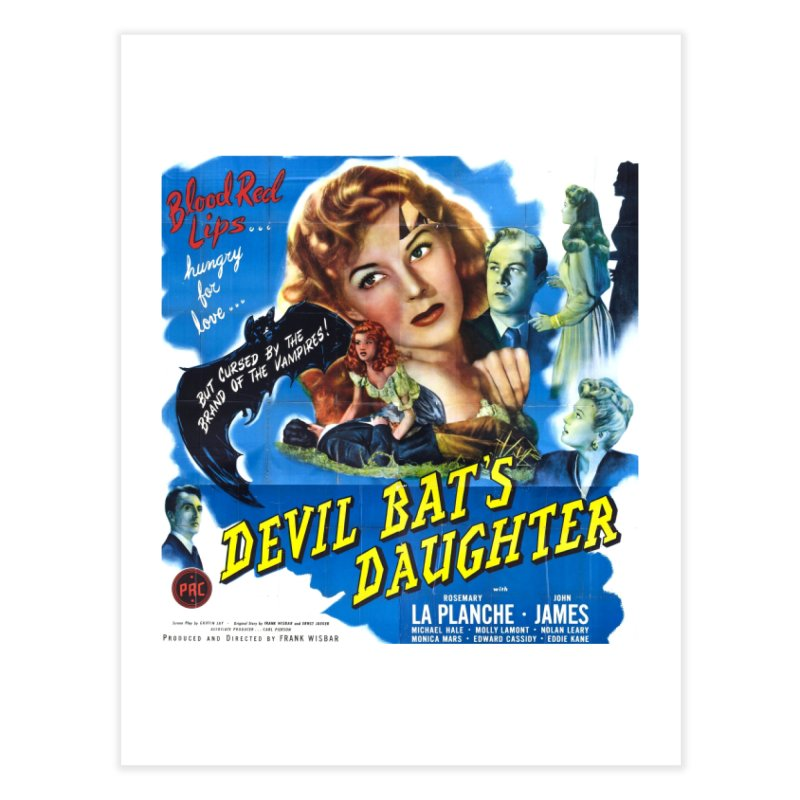 Devil Bat's Daughter, vintage horror movie poster Home Fine Art Print by ALMA VISUAL's Artist Shop