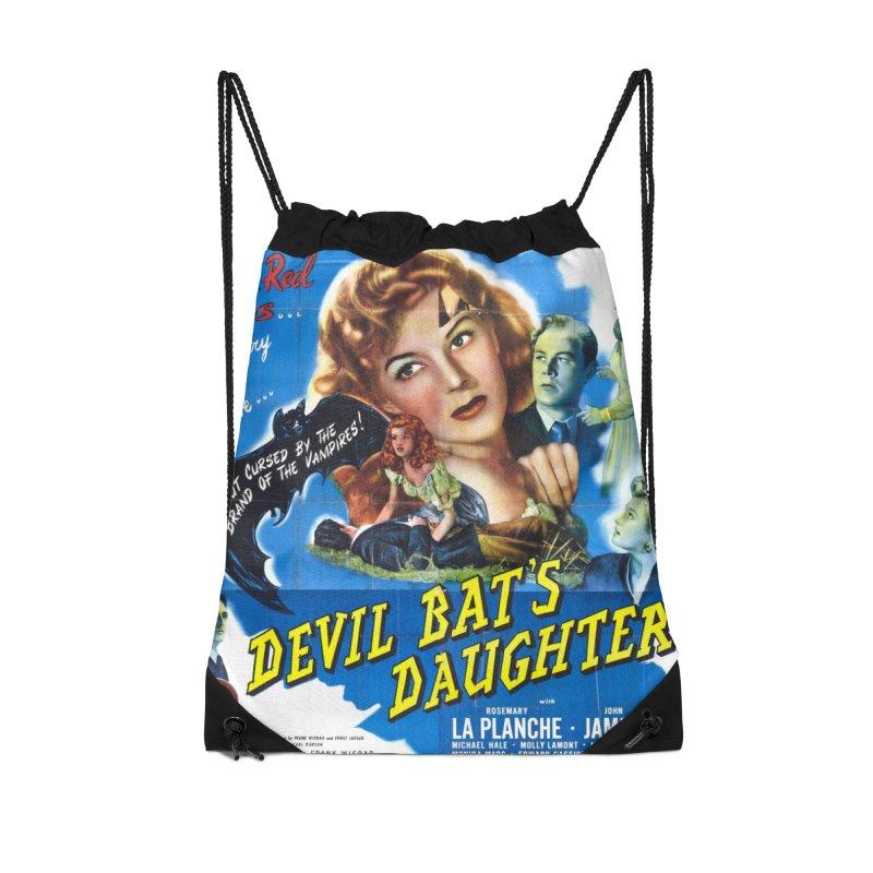 Devil Bat's Daughter, vintage horror movie poster Accessories Drawstring Bag Bag by ALMA VISUAL's Artist Shop