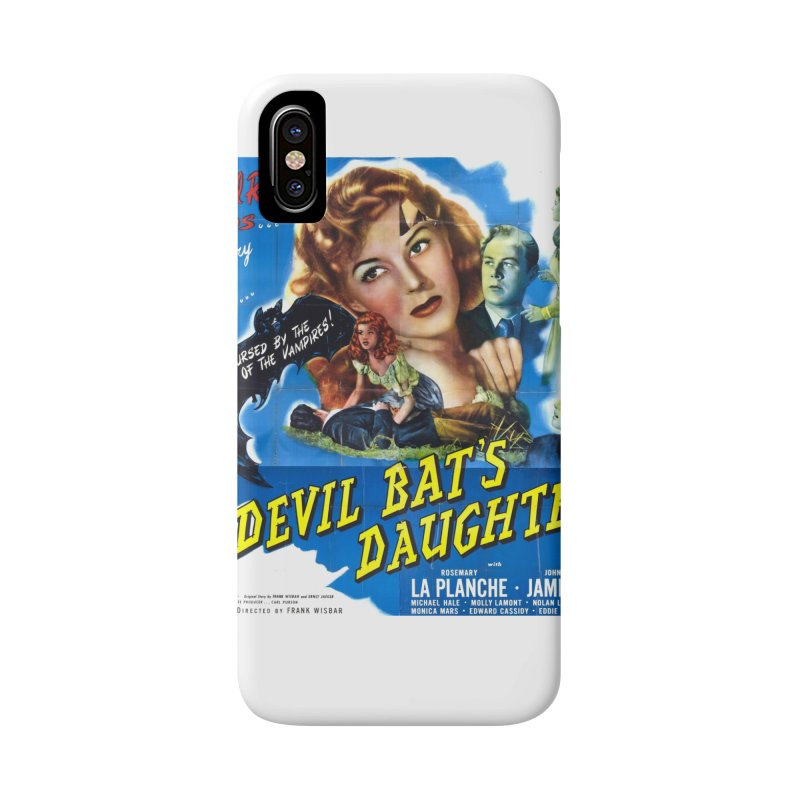 Devil Bat's Daughter, vintage horror movie poster Accessories Phone Case by ALMA VISUAL's Artist Shop