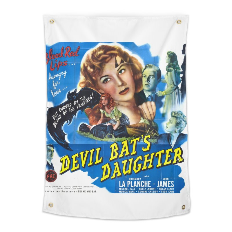 Devil Bat's Daughter, vintage horror movie poster Home Tapestry by ALMA VISUAL's Artist Shop