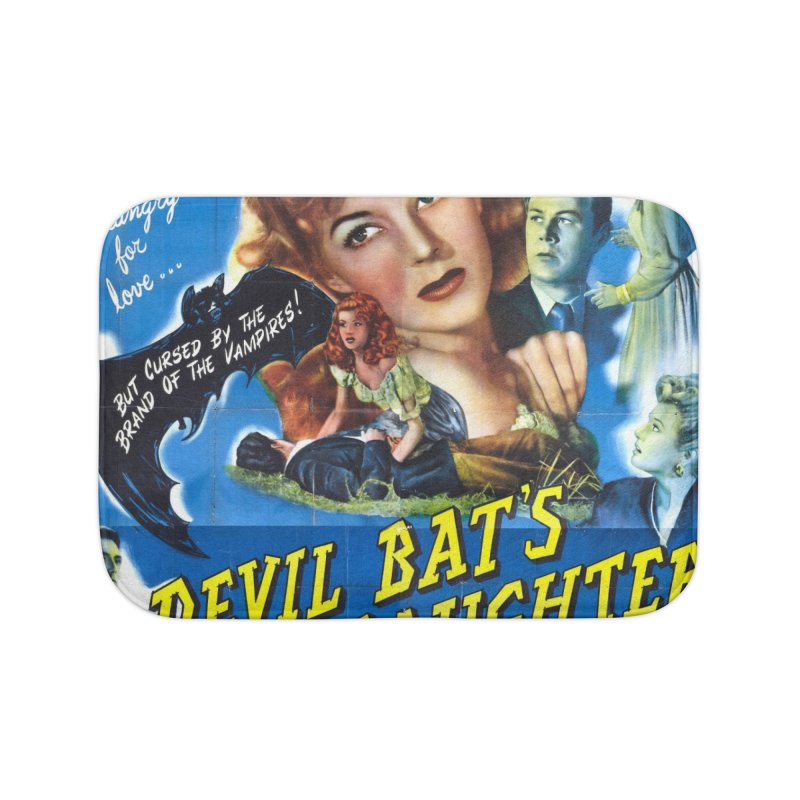 Devil Bat's Daughter, vintage horror movie poster Home Bath Mat by ALMA VISUAL's Artist Shop