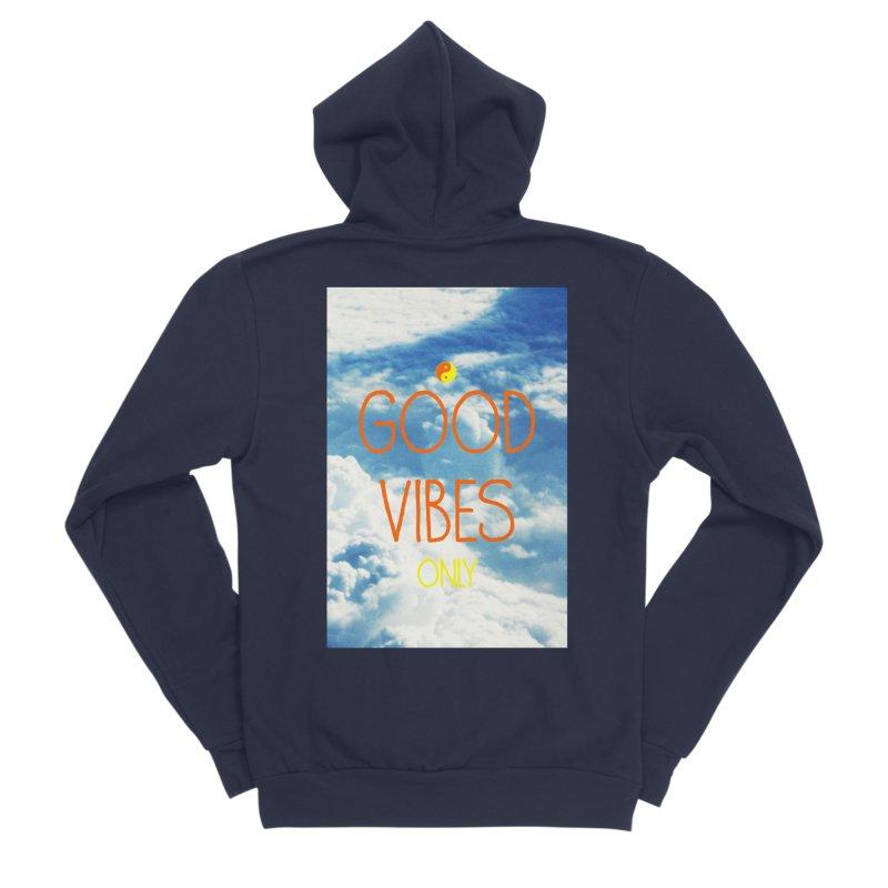 Good Vibes Only, sky Women's Sponge Fleece Zip-Up Hoody by ALMA VISUAL's Artist Shop