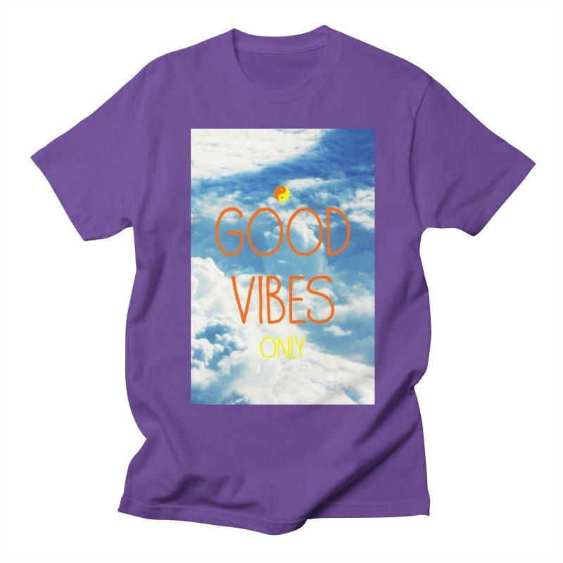 Good Vibes Only, sky Women's Regular Unisex T-Shirt by ALMA VISUAL's Artist Shop