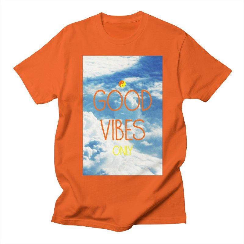 Good Vibes Only, sky Men's Regular T-Shirt by ALMA VISUAL's Artist Shop