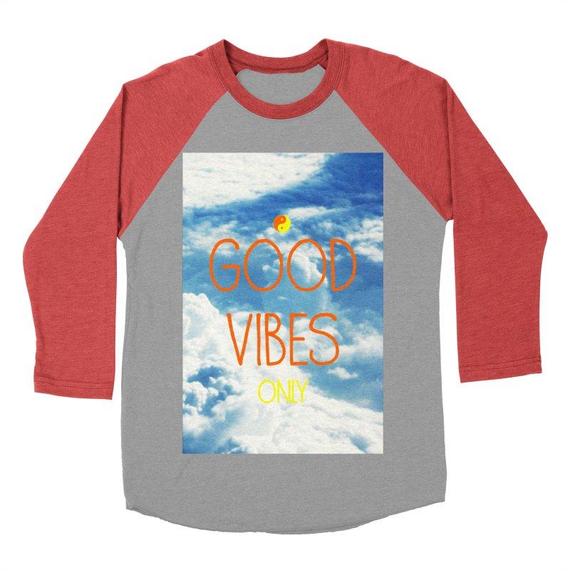 Good Vibes Only, sky Men's Baseball Triblend Longsleeve T-Shirt by ALMA VISUAL's Artist Shop