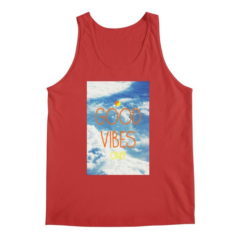 Good Vibes Only, sky Men's Regular Tank by ALMA VISUAL's Artist Shop