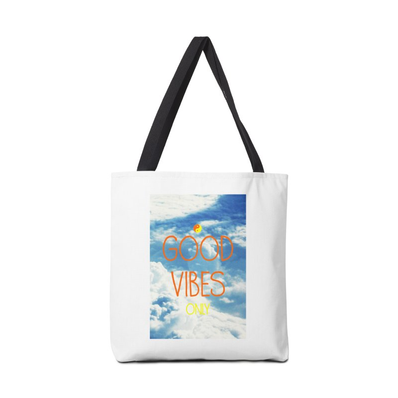 Good Vibes Only, sky Accessories Tote Bag Bag by ALMA VISUAL's Artist Shop
