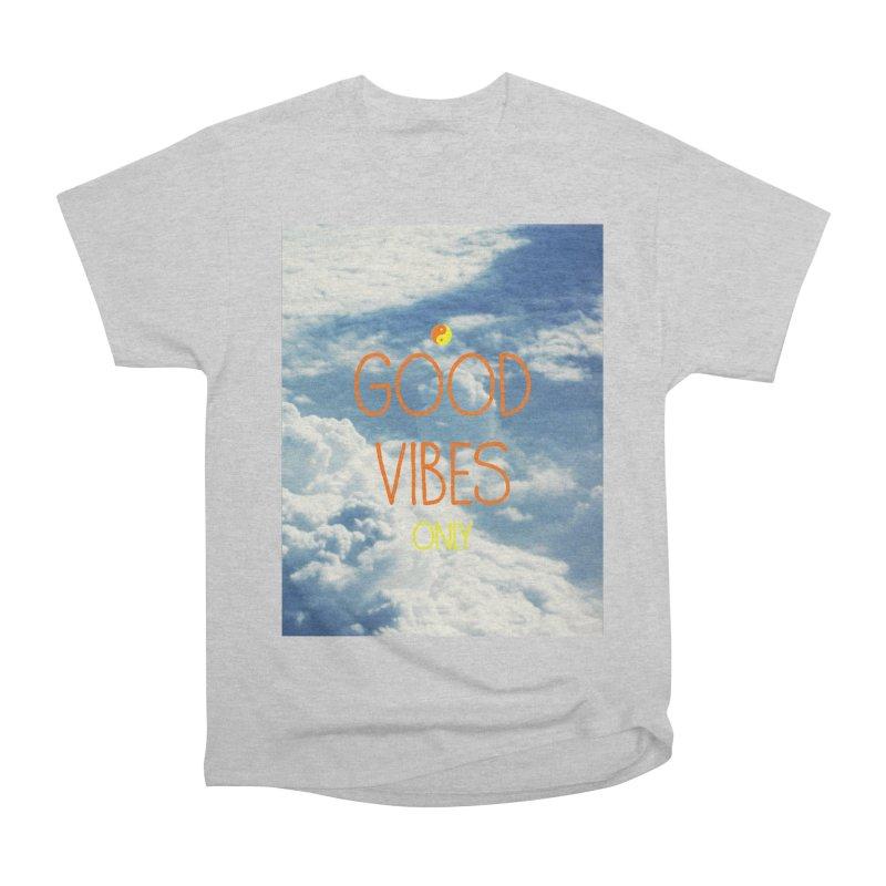 Good Vibes Only, sky Men's Heavyweight T-Shirt by ALMA VISUAL's Artist Shop