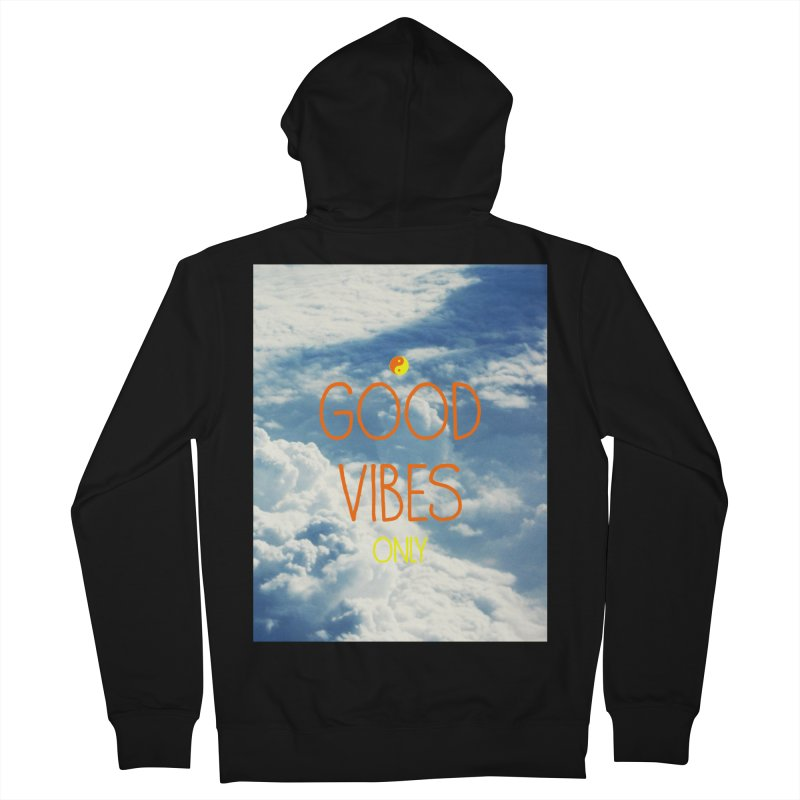 Good Vibes Only, sky Men's Zip-Up Hoody by ALMA VISUAL's Artist Shop