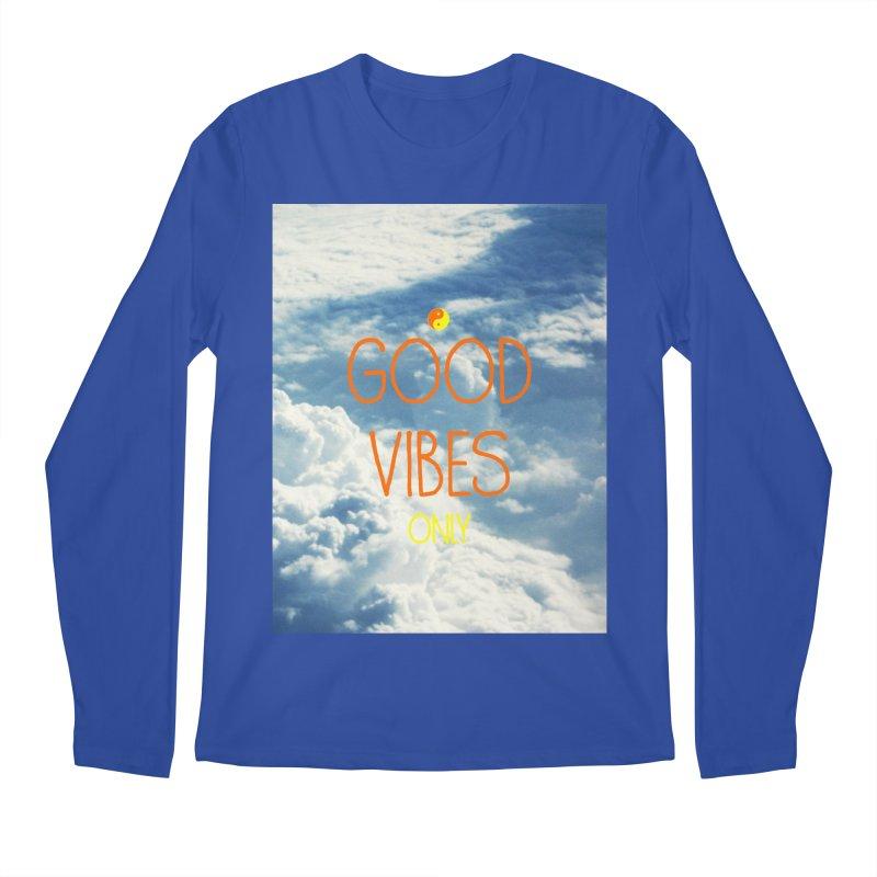 Good Vibes Only, sky Men's Longsleeve T-Shirt by ALMA VISUAL's Artist Shop