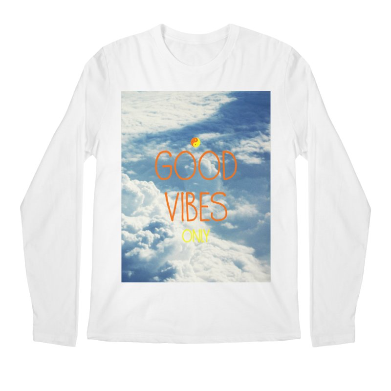 Good Vibes Only, sky Men's Longsleeve T-Shirt by ALMA VISUAL's Artist Shop