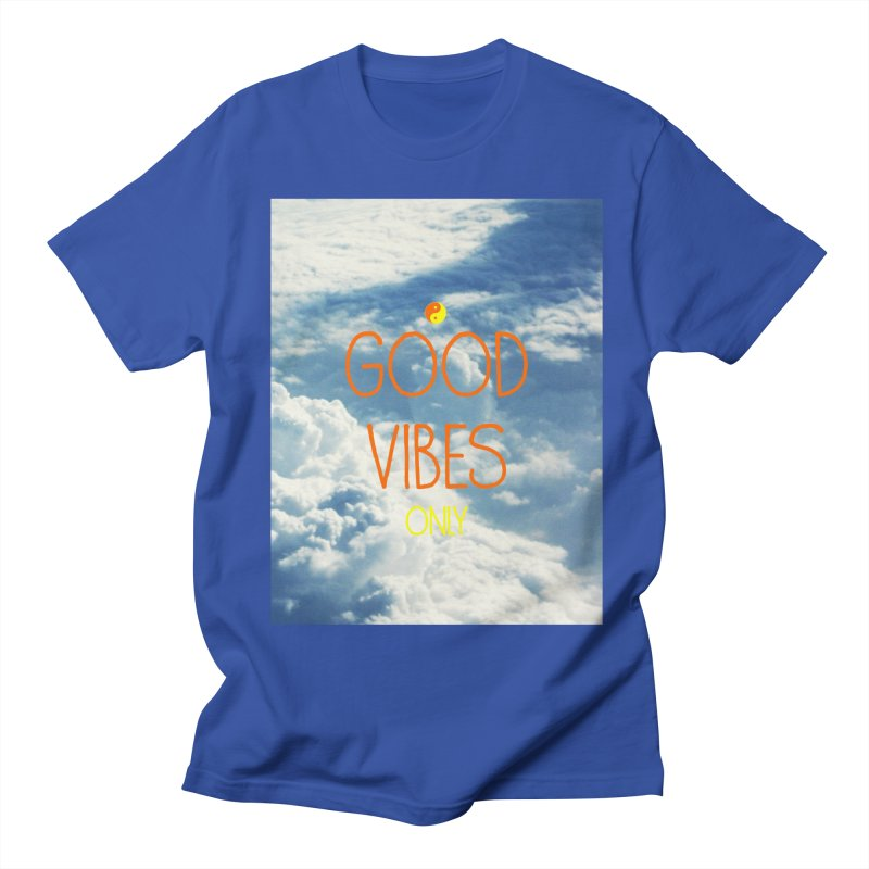 Good Vibes Only, sky Men's T-Shirt by ALMA VISUAL's Artist Shop