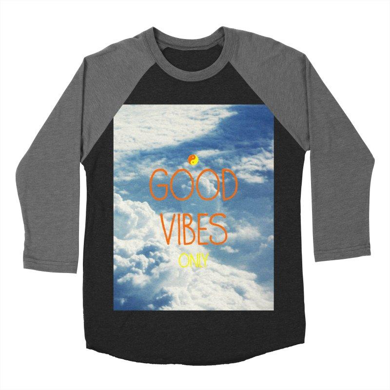 Good Vibes Only, sky Men's Baseball Triblend T-Shirt by ALMA VISUAL's Artist Shop