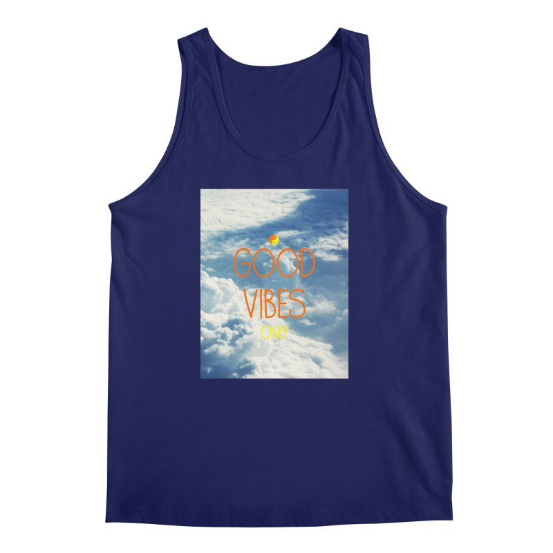 Good Vibes Only, sky Men's Regular Tank by ALMA VISUAL's Artist Shop