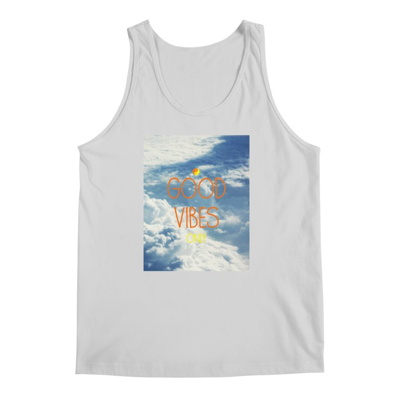 Good Vibes Only, sky Men's Tank by ALMA VISUAL's Artist Shop