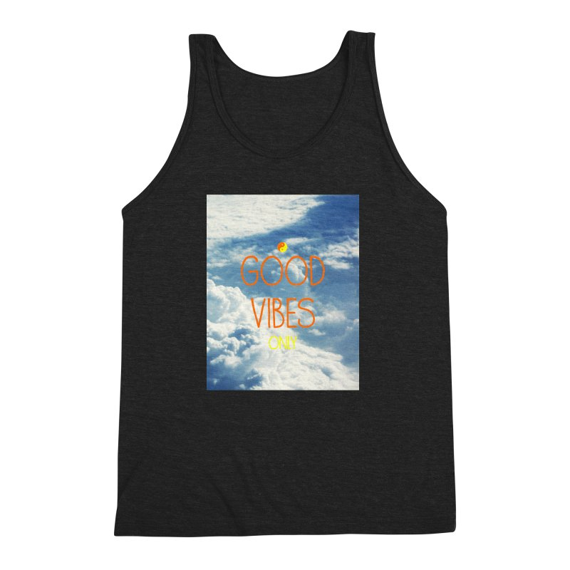 Good Vibes Only, sky Men's Triblend Tank by ALMA VISUAL's Artist Shop
