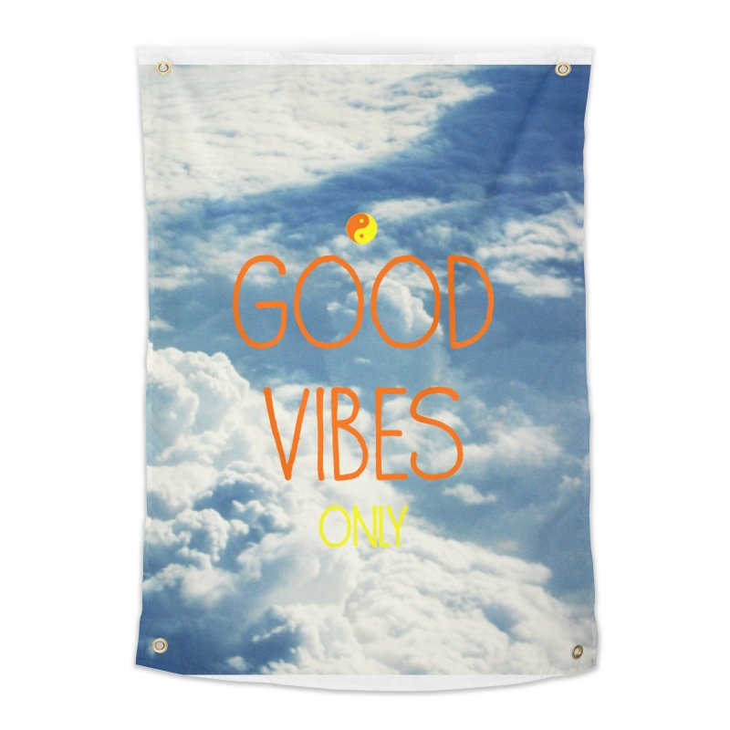 Good Vibes Only, sky Home Tapestry by ALMA VISUAL's Artist Shop