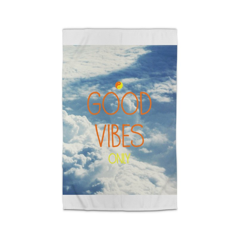 Good Vibes Only, sky Home Rug by ALMA VISUAL's Artist Shop
